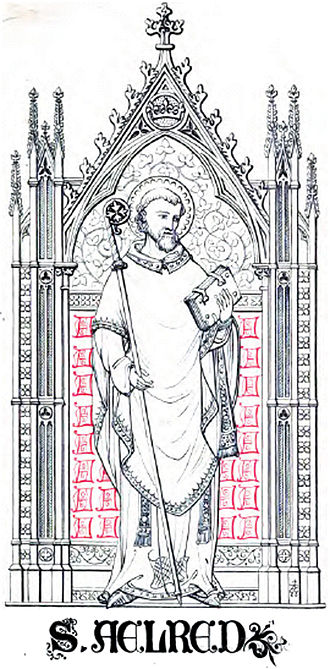 Ninian - Saint Ailred (or Aelred), from an 1845 book.