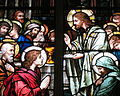 Saint Raphael Catholic Church (Springfield, Ohio) - stained glass, Last Supper - detail.jpg