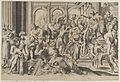 Saint Roch at right distributing alms to a group of people gathered around him, after Annibale Caracci MET DP841457.jpg