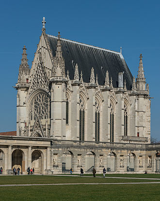 Sainte-Chapelle de Vincennes - The chapel as seen from southwest