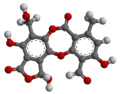 Salazinic acid - 3D - Ball-and-stick Model.png
