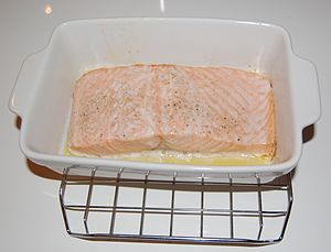 Salmon filet prepared in assited steam oven.jpg