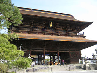 Rōmon - Image: San mon gate in Zenkoji temple at Nagano city Japan