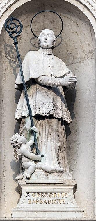 San Rocco, Venice - Image: San Rocco (Venice) Statue of Saint Gregorio Barbarigo
