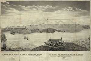 Spanish attempts to reconquer Mexico - Old view of San Juan de Ulúa