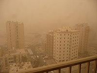 Sand storm in Salmiya, Kuwait.jpg