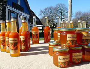 Pomeranian cuisine - Sanddorn berries are made into all kinds of products in Western Pomerania; in addition to spirits and juice there are also jams.