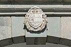 Sankt Georgen am Längsee Stiftsgebäude S-Portal Supraporte Wappen 12092015 7313.jpg