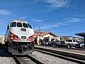 Santa Fe railroad station and Rail Runner engine.jpg
