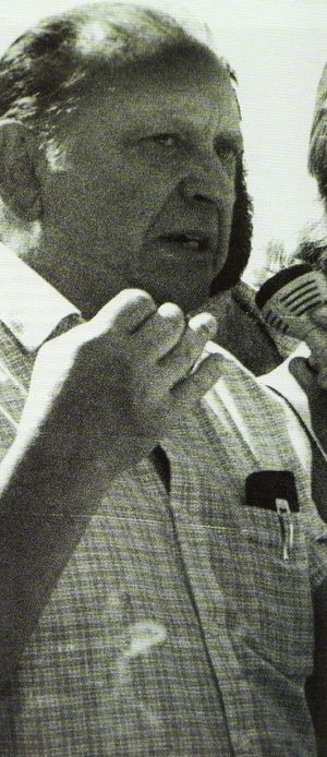 Santiago Brouard - Santi Brouard at a political rally