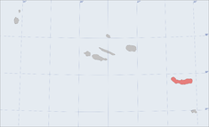 Location of the island of São Miguel in the archipelago of the Azores