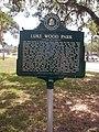 Sarasota FL Luke Wood Park marker01.jpg