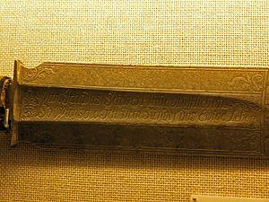 Executioner's sword - Image: Scharfrichterschwert ffm 001