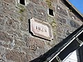 Schaw Kirk or Stair United Free Church, Trabboch - detail of date stone & bellcote anchor points.jpg