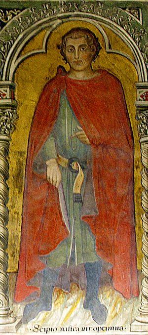 Publius Cornelius Scipio Nasica - Scipio Nasica. Fresco by Taddeo di Bartolo, Palazzo Pubblico in Siena.