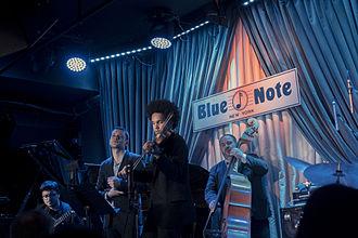 Scott Tixier - Scott Tixier at Blue Note Jazz Club, photographed by Franck Bohbot