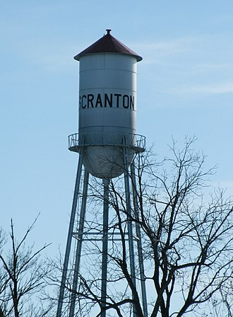 Scranton, Iowa - City water tower