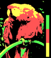 Screen color test CGA 4colors Mode4 Palette2 HighIntensity.png