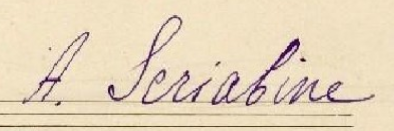 Scriabin Signature