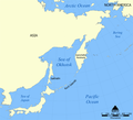 Sea of Okhotsk map with continent labels.png