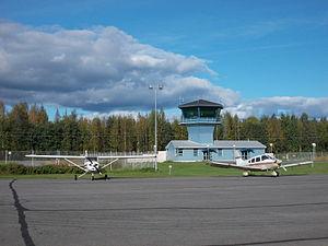 Mikkeli Airport - Image: Secondary tower of Mikkeli Airport