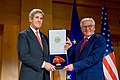 Secretary Kerry Poses With German Foreign Minister Steinmeier After Receiving the Order of Merit in Berlin (31072507640).jpg