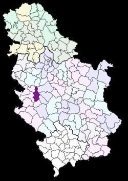 mapa srbije pozega Општина Пожега — Википедија, слободна енциклопедија mapa srbije pozega