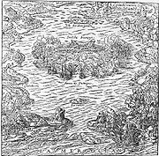 Batalha na ba�a de Guanabara entre franceses e portugueses, em 15 de março de 1560, que culminou com a destruição do Forte Coligny.