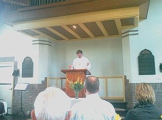 Vrijzinnige Geloofsgemeenschap NPB - Easter service in the NPB church in Driebergen, the Netherlands.