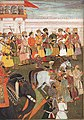 Shah-Jahan receives his three eldest sons and Asaf Khan during his accession ceremonies (8 March 1628).jpg