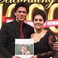 Shah Rukh Khan & Kajol unveil the special coffee table book 'DDLJ' (cropped).jpg