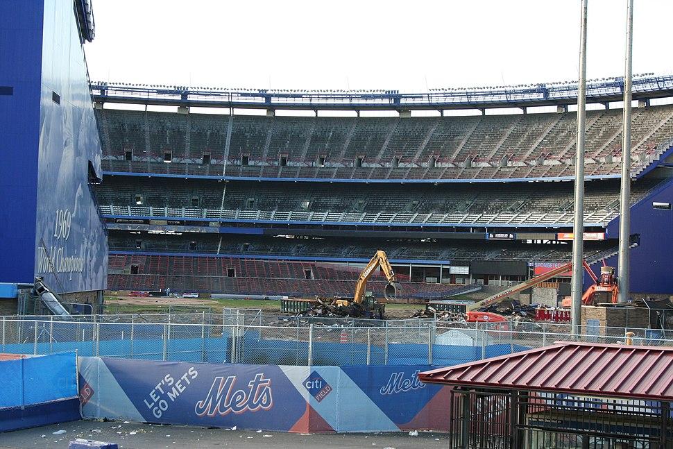 Shea stadium demolition by