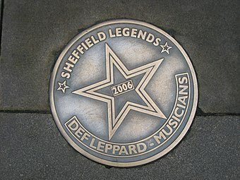 Sheffield Legends plaque in their home city of Sheffield, England, installed in 2006.