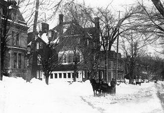 John Abbott - Sir John Abbott's house on Sherbrooke Street, Montreal, Quebec