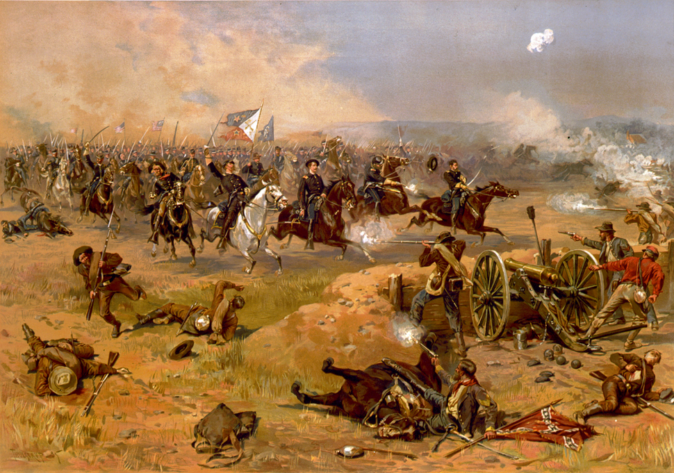 Sheridan's final charge at Winchester (retouched)