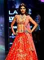 Shilpa Shetty walks for Anushree Reddy at Lakme Fashion Week 2016 (08).jpg