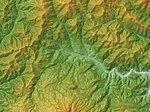 Shiobara Caldera Relief Map, SRTM-1.jpg