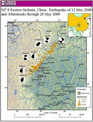 Distribution of aftershocks associated with th...