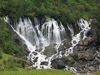 Lenk im Simmental - The Siebenbrunnen falls