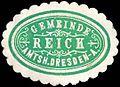 Siegelmarke Gemeinde Reick - Amtshauptmannschaft Dresden-Altstadt W0252253.jpg