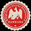 Siegelmarke Königlich Preussische Bezirks - Kommando II - Hamburg W0224139.jpg