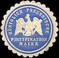 Siegelmarke Königlich Preussische Fortifikation Mainz W0238099.jpg
