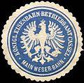 Siegelmarke Königliches Eisenbahn - Betriebs - Amt Cassel - Main Weser - Bahn W0221144.jpg