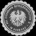 Siegelmarke Kgl. Eisenbahn Betriebsinspection 2 in Harburg W0338764.jpg