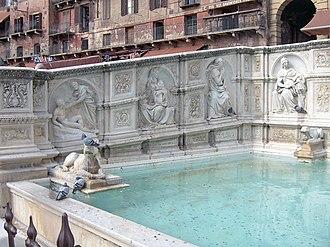 Tito Sarrocchi - Fonte Gaia in Piazza del Campo, Siena.