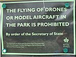 Sign - No drone flying in Regents Park (geograph 4495005).jpg
