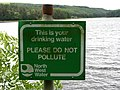 Sign next to Turton and Entwistle Reservoir - geograph.org.uk - 476033.jpg