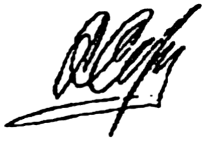 Anatoliy Serdyukov - Image: Signature of Anatoly Serdyukov
