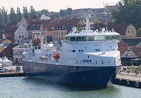 M/S Sigrid i Visby havn under Almedalsugen 2014.