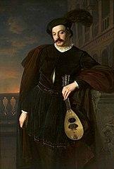 Portrait of a singer Wilhelm Troszel as Don Juan.
